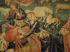 Courtiers playing at rural life, Netherlands, 1500-1520 Victoria and Albert Museum London
