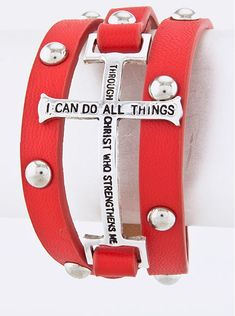 Bracelet Bible Verse Red - wrap bracelet only $12