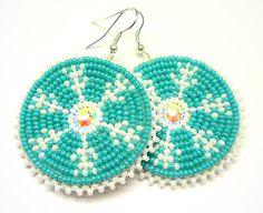 Snowflake Earrings-NATIVE AMERICAN BEADWORK. $30.00, via Etsy... i so love love these!!!