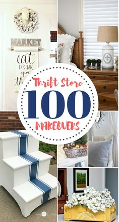 100 DIY Thrift Store Makeovers – Our Southern Home – thrift store crafts upcycling Thrift Store Furniture, Thrift Store Crafts, Repurposed Furniture, Thrift Stores, Refurbished Furniture, Thrift Store Decorating, Thrift Store Refashion, Thrift Store Shopping, Online Thrift