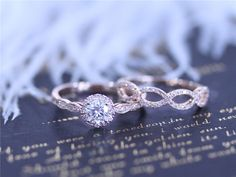 Nuevo 5mm redondo Charles & Colvard Moissanite anillo sólido