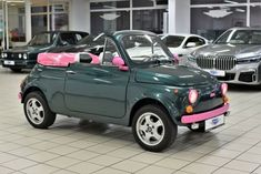 Fiat 500 Cabrio, Dream Cars, Mini, Green