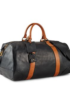 50c66c0d6e67 Polo Ralph Lauren Smooth Leather Duffle Bag - Polo Ralph Lauren Travel Bags  - Ralph Lauren