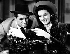 Cary Grant and Ros Russell in His Girl Friday. Best banter ever.