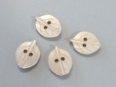 50 Tree Leaf ButtonsBrown 2Hole Sewing Craft EB164 by twpmango, $4.50