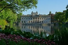 Lazienski Palace, home to Louis XVIII and the French royal family from 1801-1804