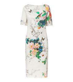 Floral boat neck dress
