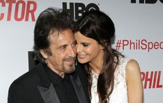 Al Pacino and Lucia Sola arrive at the premiere of Phil Spector at the Time Warner Center in New York City on March 13, 2013. UPI/John Angelillo | License Photo