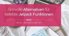 """Als WordPress Nutzer kennst du """"Jetpack"""" wahrscheinlich oder hast zumindest schon mal davon gehört. Jetpack ist Standard jedes wordpress.com-Blogs und erweitert als Plugin auch den Funktionsumfang deiner selbst-gehosteten WordPress Installation. An dieser Stelle möchte ich mich als langjährige, zufriedene Jetpack Userin outen. Seit dem Launch von miss-webdesign.at waren ausgewählte Funktionen dieses Plugins auf meiner Website…"""