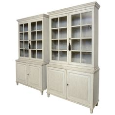 Pair of Large Antique Swedish Gustavian Library Cabinets | From a unique collection of antique and modern bookcases at http://www.1stdibs.com/furniture/storage-case-pieces/bookcases/