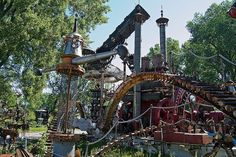 Forevertron, Tom Every, outside Baraboo, Wisconsin.   It's quite wonderful and you can even make music.