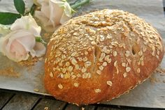 Spelt and oats no-knead bread