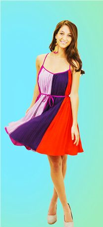 Color Blocking and Pleats perfect for spring