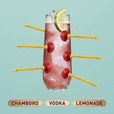 Chambord + Vodka + Lemonade = deliciousness