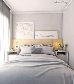 70 Trendy Home Decored Apartment Renting Beds Gray Bedroom, Bedroom Decor, Small Bedroom Designs, Luxury Condo, New Beds, Suites, Trendy Home, Bedroom Styles, Interior Design