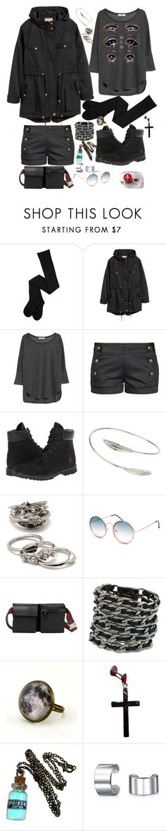 """""""Untitled #12"""" by laughing-joker ❤ liked on Polyvore featuring H&M, MANGO, Talula, Timberland, Miss Selfridge, Forever 21, Spitfire, Gucci, ALDO and Bling Jewelry"""