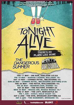 #TonightAlive Australian Tour Dates - 2012