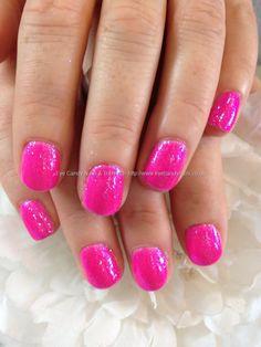Pink rockstar gels over natural nails