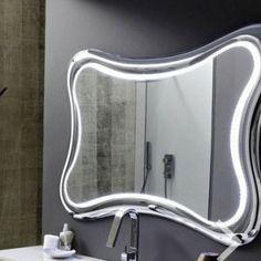 Specchio E Specchiera Bagno Goccia E Rugiada Con Faretto