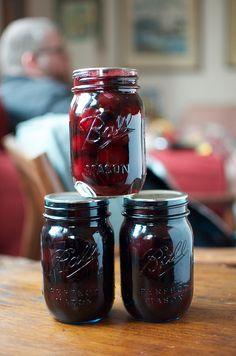 rosemary pickled cherries from Smoke & Pickles by Marisa | Food in Jars, via Flickr
