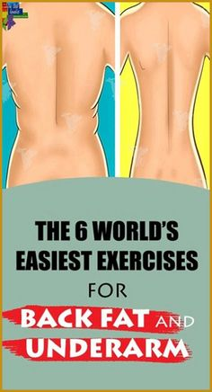 The 6 World's Easiest Exercises For Back Fat And Underarm Flab – Herbal Medicine Book Superman Workout, Back Fat Workout, Butt Workout, Underarm Workout, Girl Workout, Lower Back Muscles, Medicine Book, Shoulder Muscles, Natural Medicine