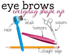 Every Day Brow Clean Up: How I Shape Up