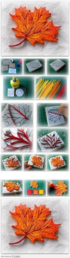 Quilling Maple Leaf