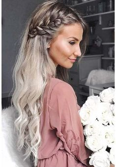 37 Charming Romantic Hairstyles Ideas For Valentines Day - Wedding Hair Styles Side Braid Hairstyles, Romantic Hairstyles, Braided Hairstyles Tutorials, Trendy Hairstyles, Blonde Hairstyles, Gorgeous Hairstyles, Cute Down Hairstyles, Hair Tutorials, Hairstyle Braid