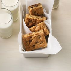 Oatmeal one-bowl bar cookie recipe will travel and freeze well.