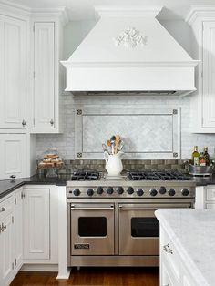 Kitchen Backsplash Focal Point tile backsplash ideas for behind the range   grey tiles, mosaics