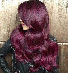 Dark Red Hair Color on Long Hair