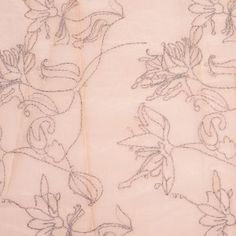 Rose Cloud Embroidered Floral Silk/Cotton Woven