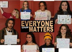 "It's EVERYONE MATTERS at Indiana University of Pennsylvania from March 4 to 14! They are organizing an ""I Am!"" PhotoWall and other events highlighting inclusiveness - with the message that Everyone Matters!  If you want to do an Everyone Matters Day at your elementary, middle, high school, library or business - check out our (modest) brochure"