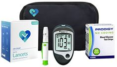 OWell Prodigy AutoCode Complete Diabetes Blood Glucose Testing Kit, TALKING METER, 50 Test Strips, 50 Lancets, Lancing Device, Manual, Log Book & Carry Case -- Read more reviews of the product by visiting the link on the image.