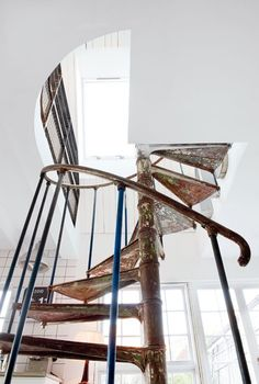 Spiral Staircase - Rust on White.