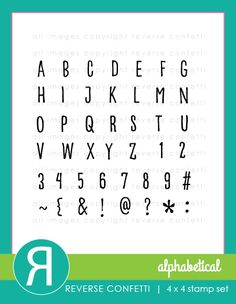 Every stamper needs a great alphabet set in their stash and this is the perfect one!  This stamp set contains both letters, numbers and symbols making your personalized gift giving a snap!