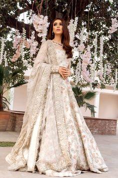 Wedding Robe, Indian Wedding Gowns, Pakistani Wedding Outfits, Indian Bridal Outfits, Pakistani Bridal Dresses, Pakistani Wedding Dresses, Ivory Wedding, Walima Dress, Pakistani Lehenga