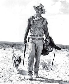 John Wayne's title role in Hondo became one of the most famous roles in his 50-year career on the Silver Screen. John Wayne, Iowa, Westerns, Jeremiah Johnson, Young John, Tom Selleck, Hero Movie, Retro Images, Image Archive