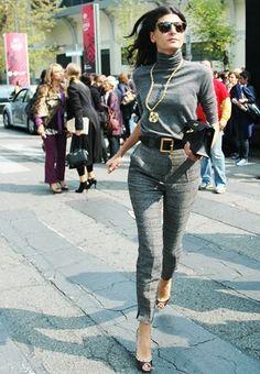 Giovanna Battaglia  I like these skinny yet dressy trousers.