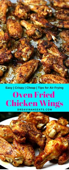 An easy, cheap keto dinner recipe for Oven Fried Chicken Wings. Using a special … An easy, cheap keto dinner recipe for Oven Fried Chicken Wings. Using a special tip, you get the taste of fried chicken without deep frying. Oven Fried Chicken Wings, Oven Baked Chicken, Best Baked Chicken Wings, Crispy Baked Wings, Deep Fry Chicken Wings, Crispy Wings Recipe, Grilled Chicken, Keto Wings Recipe, Chicken Wing Seasoning
