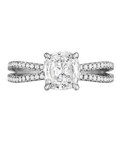 Henri Daussi AOS Engagement Ring | From asscher to round, take a peek at the elegant options for engagement rings.