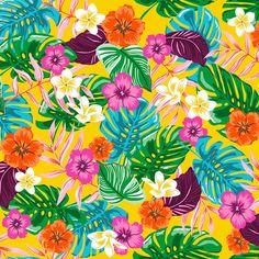 Tafelzeil Exotica - Kitsch kitchen tafelzeil met exotische bloemenprint in de hipste kleuren. Het tafelzeil is gemakkelijk afwasbaar met een vochtige doek. Kies de gewenste lengte in het menu en we snijden het voor u op maat.