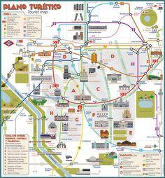 Tourist Map - Madrid on Behance