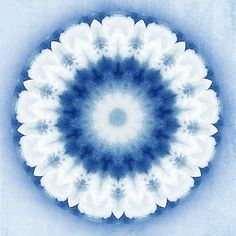 """I Really Don't Know Clouds"" Mandala (Exploring the Mystery Series) by Sue O'Kieffe source image: thunderhead clouds"
