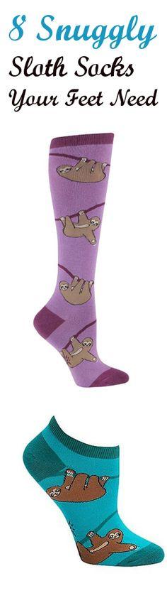 merkloos Good Mood Sloth Unisex Adult Animal Socks