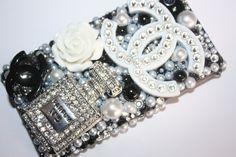 Swarovski Chanel inspired Iphone 4/4s case by slave2beauty on Etsy, $85.00