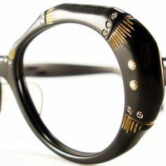 Vintage Frame Oval Rhinestones  Eyeglasses by VintageEyeglassesCat, $100.00