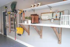 garage workbench makeover, garages, home improvement, organizing, storage ideas
