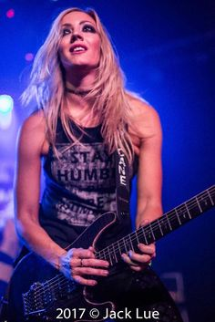 Nita Strauss at the We Start Wars debut show at the Whisky A Go-Go!!!by Jack Lue.