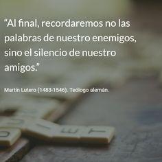 Martín Lutero (1483-1546). Teólogo alemán. #citas #frases